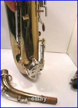 VINTAGE SELMER BUNDY II ALTO SAX SAXOPHONE WithHARD CASE -SOUNDS GREAT
