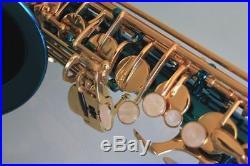 Venus ALTO SAXOPHONE Sax AQUA BLUE & GOLD, Ready to Play, NEW