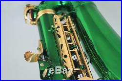 Venus ALTO SAXOPHONE Sax GREEN Color & GOLD Keys, Ready to Play, NEW