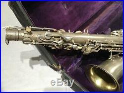 Vintage 1914 C. G. CONN SAXOPHONE Sax A Alto L Low Pitch ELKHART USA in Hard Case
