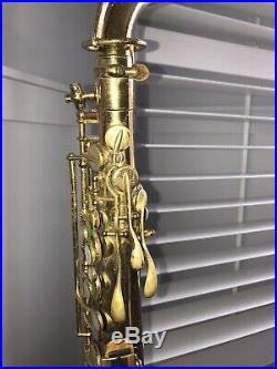 Vintage 1929 1930 The Buescher True Tone Alto Saxophone Sax With Leather Case