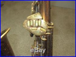 Vintage 1942 C. G. Conn 6M VIII Naked Lady Alto Saxophone With Case Cool Sax