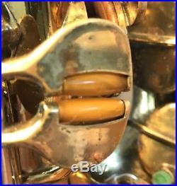 Vintage 1951 Buescher Top Hat & Cane Alto Sax Great Player! Orig Case! 338xxx