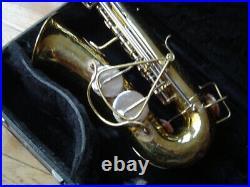 Vintage 1965 Buescher Alto Sax Nice Pads with Dome Metal Resonators
