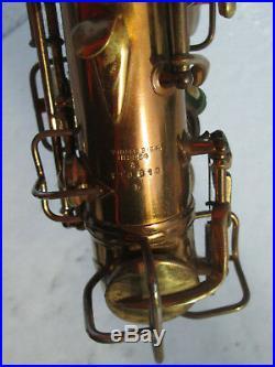 Vintage'24 C. G. Conn NEW WONDER Alto Sax Saxophone with DECO CUSTOM ENGRAVING