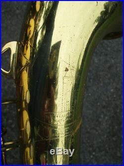 Vintage'50s H N White Cleveland King Alto Sax Alto Saxophone USA! GOOD PLAYER