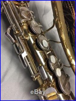 Vintage 60s Conn 6M Alto Sax, Double Socket Neck. Original Lacquer