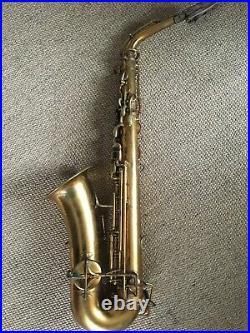 Vintage Alto Sax Saxophone Buescher True Tone Low Pitch 1920's