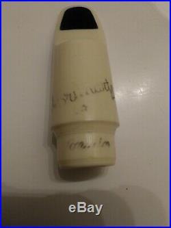 Vintage Brilhart White Tonalin 3 Alto Sax Mouthpiece
