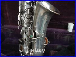 Vintage Buescher Alto Sax in Silver Plate Ready to Play Free Shipng! Make Offer