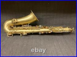 Vintage Conn Alto Sax Brushed Brass Finish