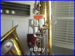 Vintage Conn Stencil Continental Colonial Alto Saxophone With Case Sax