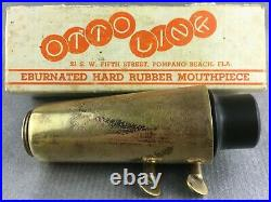 Vintage Florida Otto Link Alto 6 Sax Saxophone Mouthpiece With Box Ligature Cap