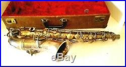 Vintage Harwood Professional Low Pitch Alto Sax Stencil in Silver, Serial #47866