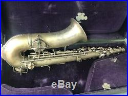 Vintage KING Alto SAX Saxophone with CASE SILVER Tone PAT 1925 for Repair