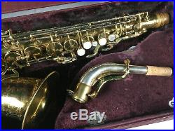 Vintage King Super 20 Full Pearls Solid Silver Neck Alto Sax Saxophone