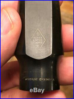 Vintage Ny USA Meyer 8m Jazz Alto Sax Mouthpiece Amazing Power & Projection