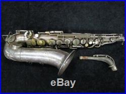 Vintage Original Silver Selmer Paris New Large Bore Alto Sax Serial # 10926