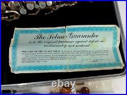 Vintage Selmer Bundy Alto Saxophone Sax Brass with Hard Case