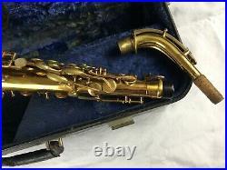 Vintage Selmer Model26 Rare Gold Lacquer Alto Sax Saxophone With Buescher Case
