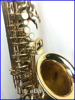 Xtra-Nice Yamaha YAS575AL Allegro Semi Pro Alto Sax with case, new mpiece + more