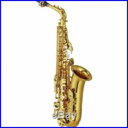YAMAHA YAS-62 Eb Alto Sax Saxophone Gold Lacquer with Case EMS Tracking NEW