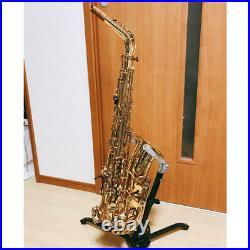 YAMAHA YAS-62 YAS62 Alto Saxophone Sax Early type mesh purple logo Used