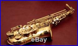 YANAGISAWA A 900 Sax Professional Alto Saxophone Gold Lacquere A-900 USED