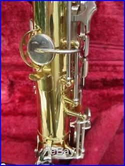 Yamaha Eb Alto Sax YAS-25 Used, Gold finish, F# key may need some servicing