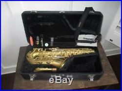 Yamaha Q Class QC-1 Matte Gold Alto Saxophone With Original Case NICE SAX