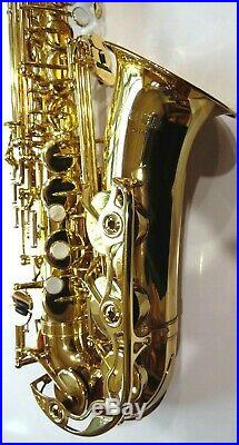 Yamaha YAS-52 Intermediate Alto Saxophone Sax Ready to Play Serviced Excellent