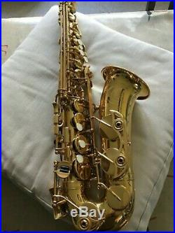 Yamaha professional alto sax YAS 62 brass lacquer owned from new excellent